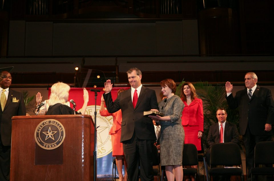City of Dallas Mayoral Inauguration of Mayor Mike Rawlings in Dallas TX